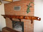 Custom Made Mesquite Fireplace Mantel