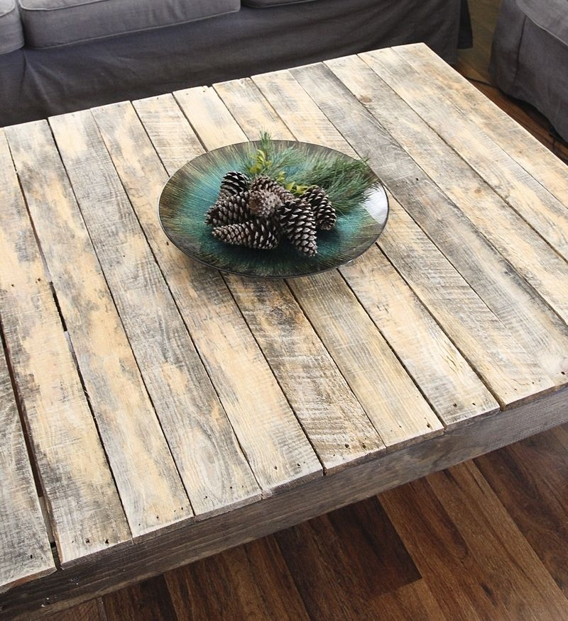 100 reclaimed wood square coffee table country roads reclai