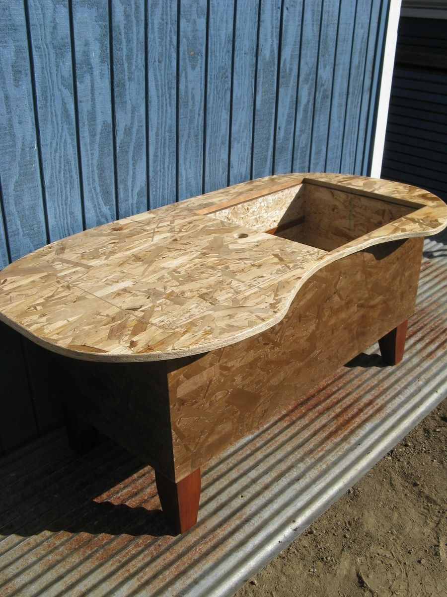 Hand crafted bathtub kidney bean shaped coffee table by modular hand crafted bathtub kidney bean shaped coffee table by modular osb custommade geotapseo Choice Image