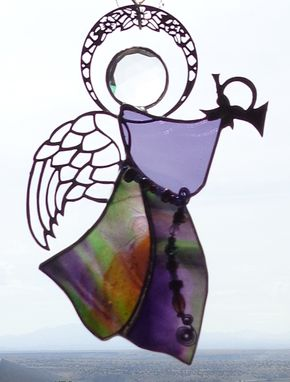 Custom Made Stained Glass Angels