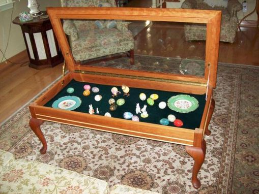 Custom Made Curio Coffee Table