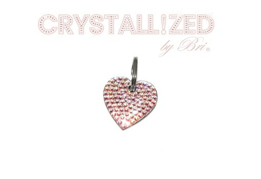 Custom Made Bone Shaped Crystallized Personalized Dog Tag Made With Swarovski Crystals Bedazzled