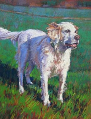 Custom Made Dog Portrait Painting In Pastel, 12 X 9 Inches