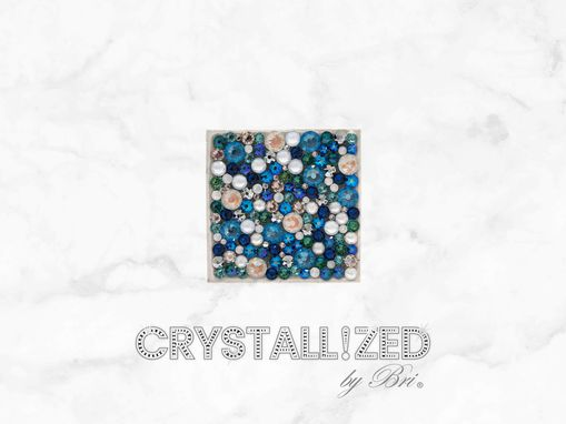 "Custom Made Custom Crystallized 2"" Square Accent Tile Bath Kitchen Home Decor Bling Swarovski Crystals Bedazzled"