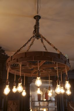Custom Made Large Wheel Chandelier