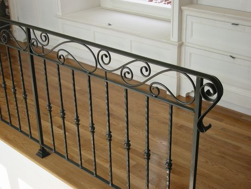 Hand Crafted Custom Interior Wrought Iron Railing By