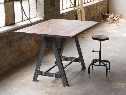 Custom Made Industrial A Frame Table Kitchen Island Bar