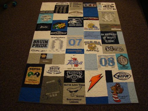 Custom Made Large Lap Size Custom Tshirt Quilt
