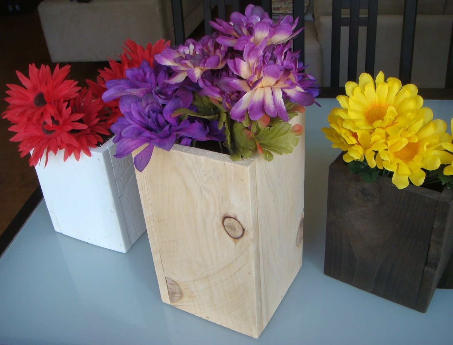 Hand Made Wood Centerpieces Wedding And Party Cedar Wood