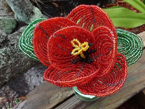 Custom Made Beaded Tulip