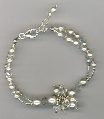 Custom Made Vintage With A Twist  White Pearl Necklace