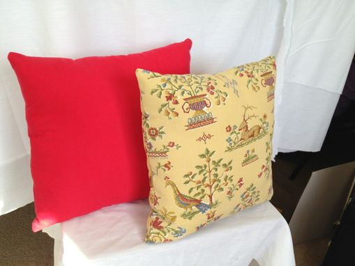 Custom Made Yellow And Red Throw Pillows