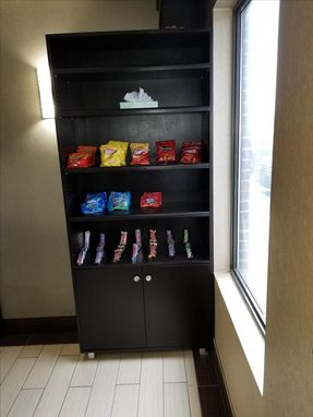Custom Made Hotel Front Desk Snack Cabinet