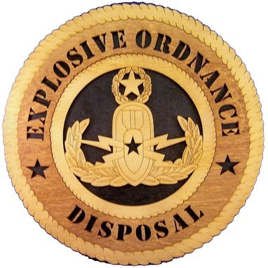 Custom Made Explosive Ordnance Disposal Wall Tribute, Explosive Ordnance Disposal Hand Made Gift