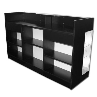Custom Made Jet Black Sales Counter Showcase Display 6ft