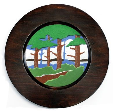 Custom Made Decorative Plate, Arts And Crafts / Mission Style