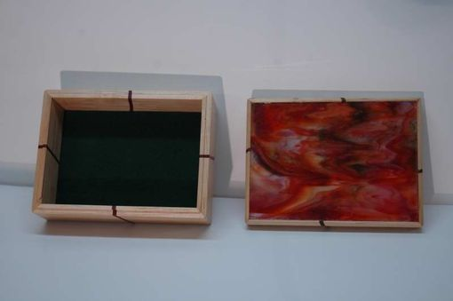 Custom Made Maple With Glass Top Keepsake Box