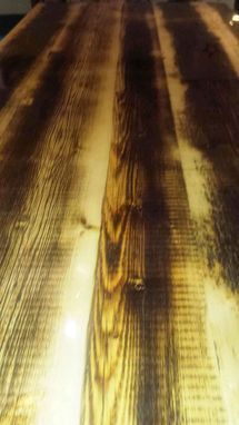 Custom Made Modern Industrial Rustic 9 Foot Dining Table, Conference Table Made Of I-Beam And Reclaimed Wood