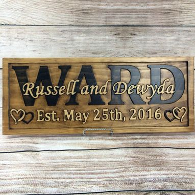 Custom Made Wedding Gift Family Name Sign Wedding Sign Fifth Anniversary Gift Wedding Decor