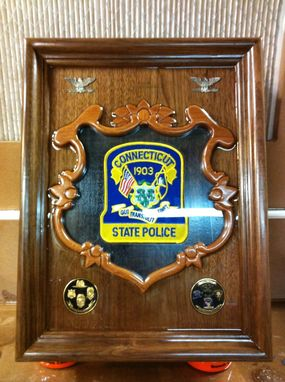 Custom Made Gun Box For The Colonel Of The Ct. Sate Police
