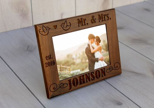 Custom Made Custom Engraved Picture Frames -- Pf-Wal-Johnson