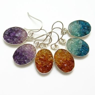 Custom Made Gemstone Mosaic Earrings - Wedding, Gifts, Bridesmaids