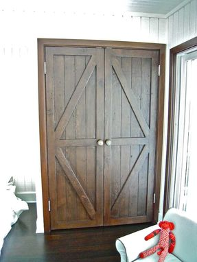 Custom Made Custom Reclaimed Wood Bi-Fold Closet Doors For A Luxury Home In Malibu
