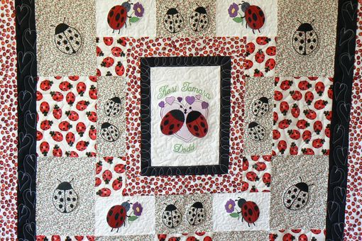 Custom Made Custom Lady Bug Baby Quilt