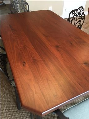 Custom Made Black Walnut Wood Top
