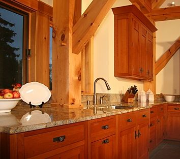 Custom Made Cherry Kitchen - Mission Style