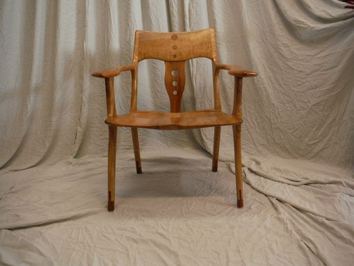 Custom Made Maple Sapele Occasional Chair