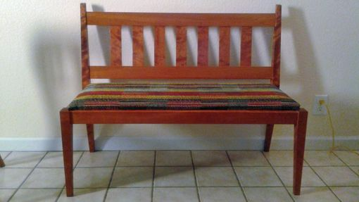Custom Made Cherry Bench For Two