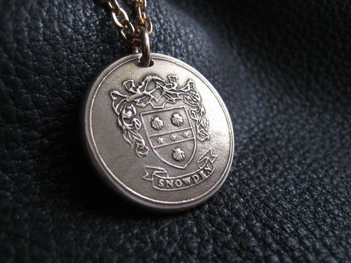 Custom Made Custom Family Crest Coat Of Arms Heraldry Medallion Pendant In Pure Bronze