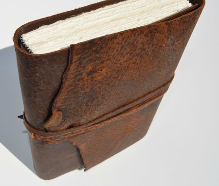 Custom Made Distressed Pig Skin Leather Bound Travel Adventure Journal Ledger Planner