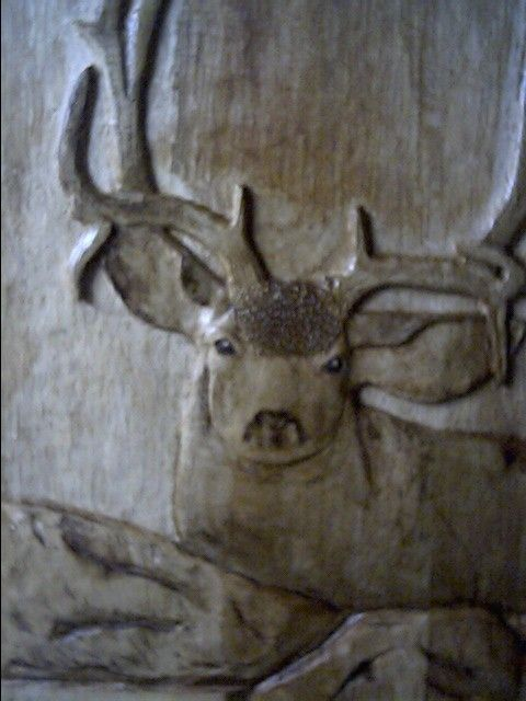 Custom Mule Deer Relief Carving By Tom S Wood Art