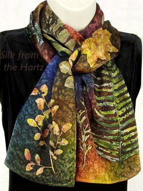 Custom Made Botanical Leaf Scarf