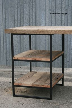 Custom Made Reclaimed Wood Desk (Oak) With Shelves. Industrial, Steel. Custom Dimensions/Configurations.