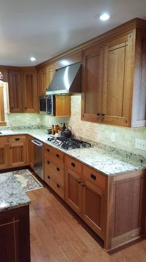 Custom Made Cherry And Walnut Kitchen