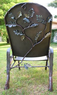 Custom Made Custom Steel Adirondack Chair