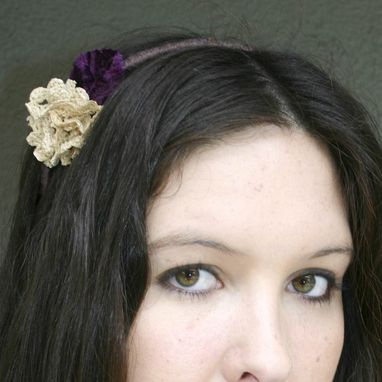 Custom Made Headband With A Vintage Lace Flower, Adult Headbands
