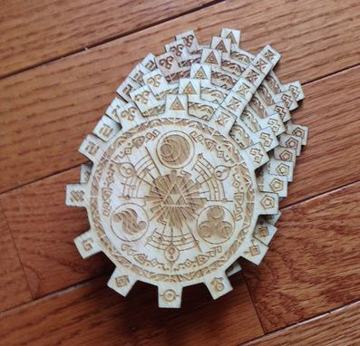 Custom Made Legend Of Zelda Gate Of Time Baltic Birch Wood Laser Cut Coasters Set Of Six