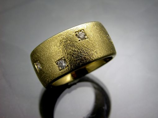 Custom Made 18kyg Band With Diamonds