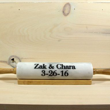 Custom Made Marble Rolling Pin - Engraved