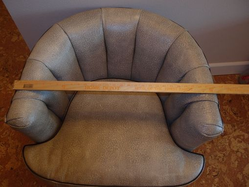 Custom Made Leather Small Chair In As If The Skin Of An Elephant