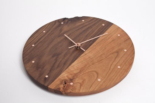 Custom Made Two Toned Wall Clock With Copper Markings