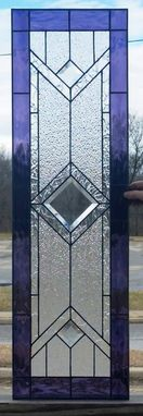 "Custom Made Stained Glass Cabinet Inserts - ""Grape & Clears"" (Ci- 49)"