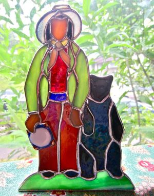 Custom Made Stained Glass Christmas Creche Figures - Santons