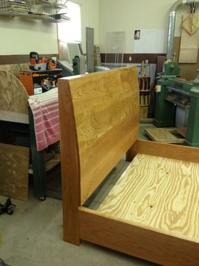 Custom Made Solid Cherry Queen Size Bed