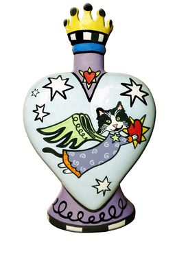Custom Made Heavens Best Cat Heart Vase Urn