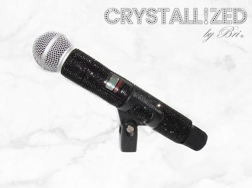 Custom Made Custom Crystallized Microphone Singer Performer Stage Music Mic Bling Swarovski Crystals Bedazzled